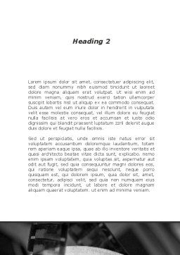 Projection Reel Word Template Second Inner Page