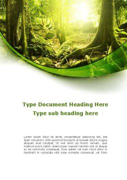 Jungle Forest Word Template, Cover Page, 09472, Nature & Environment — PoweredTemplate.com