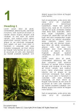 Jungle Forest Word Template, First Inner Page, 09472, Nature & Environment — PoweredTemplate.com