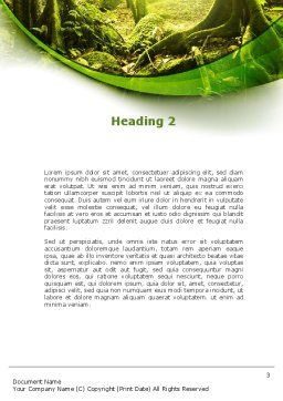 Jungle Forest Word Template, Second Inner Page, 09472, Nature & Environment — PoweredTemplate.com