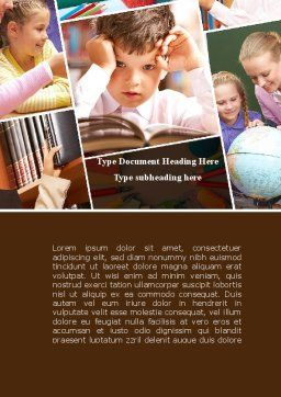 Elementary Education Word Template Cover Page