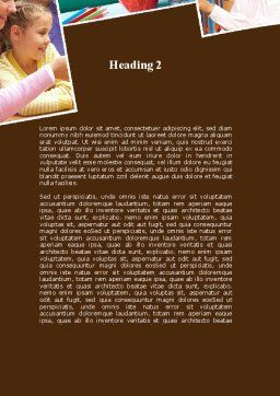 Elementary Education Word Template Second Inner Page