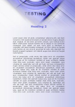Spyral Model Word Template, Second Inner Page, 09478, Technology, Science & Computers — PoweredTemplate.com