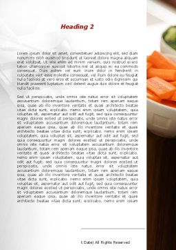 Fresh Food Word Template, Second Inner Page, 09481, Food & Beverage — PoweredTemplate.com