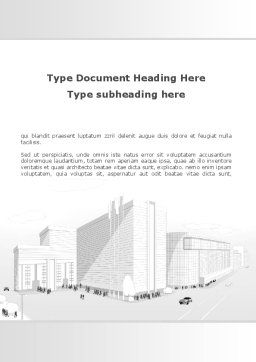 Urban Architecture Project Word Template, Cover Page, 09483, Construction — PoweredTemplate.com