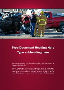 Car Accident Word Template, Cover Page, 09484, Cars/Transportation — PoweredTemplate.com