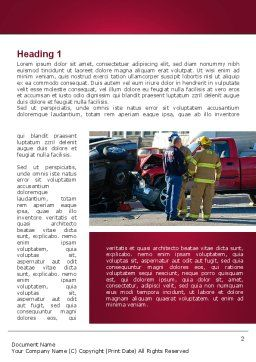 Car Accident Word Template, First Inner Page, 09484, Cars/Transportation — PoweredTemplate.com