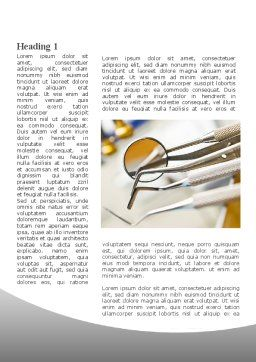 Dental Instruments Word Template, First Inner Page, 09485, Medical — PoweredTemplate.com