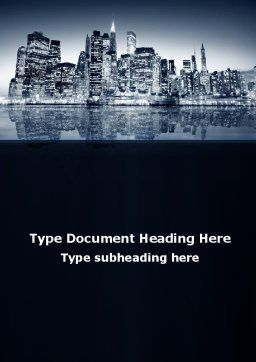 Chicago Shore Word Template, Cover Page, 09493, Construction — PoweredTemplate.com