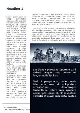 Chicago Shore Word Template, First Inner Page, 09493, Construction — PoweredTemplate.com