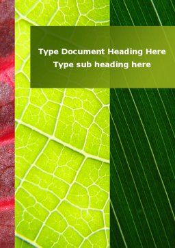 Leafs Cells Word Template, Cover Page, 09496, Nature & Environment — PoweredTemplate.com