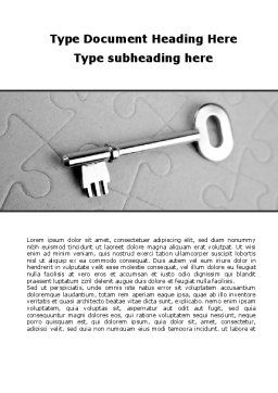 Key To Puzzle Word Template, Cover Page, 09497, Consulting — PoweredTemplate.com
