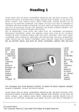 Key To Puzzle Word Template, First Inner Page, 09497, Consulting — PoweredTemplate.com