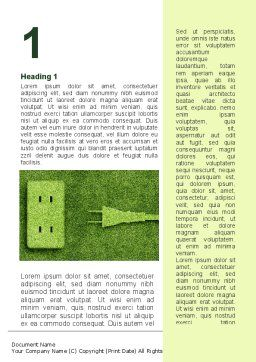 Energy of Greenery Word Template First Inner Page