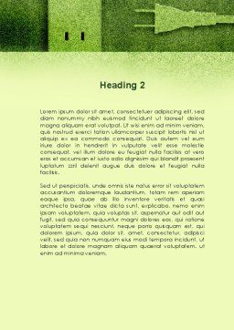 Energy of Greenery Word Template Second Inner Page