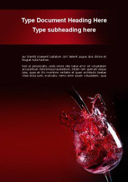 Fantastic Red Wine Word Template, Cover Page, 09503, Food & Beverage — PoweredTemplate.com