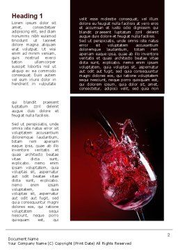 Fantastic Red Wine Word Template, First Inner Page, 09503, Food & Beverage — PoweredTemplate.com