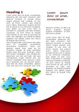 Colorful Puzzle Pieces Word Template, First Inner Page, 09505, Consulting — PoweredTemplate.com