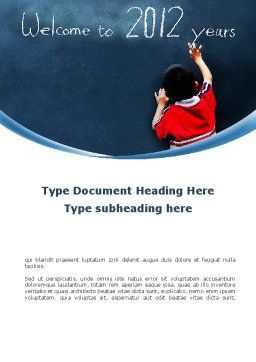 Welcome To 2012 Word Template, Cover Page, 09508, Education & Training — PoweredTemplate.com