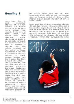 Welcome To 2012 Word Template, First Inner Page, 09508, Education & Training — PoweredTemplate.com
