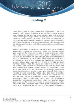 Welcome To 2012 Word Template, Second Inner Page, 09508, Education & Training — PoweredTemplate.com