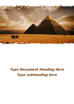 Pyramid of Khafre Word Template Cover Page