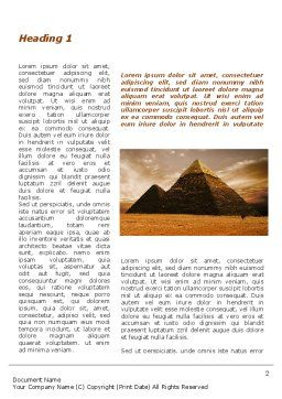 Pyramid of Khafre Word Template First Inner Page