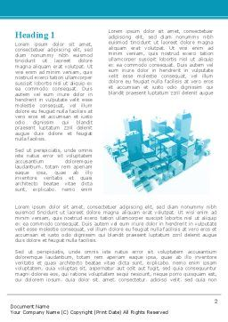 Urban Blocks Word Template, First Inner Page, 09515, Construction — PoweredTemplate.com