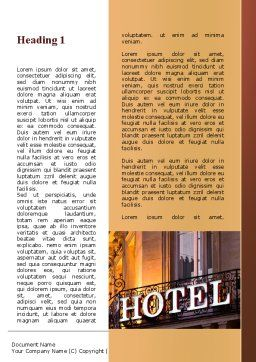 Hotel Signboard Word Template, First Inner Page, 09516, Business — PoweredTemplate.com