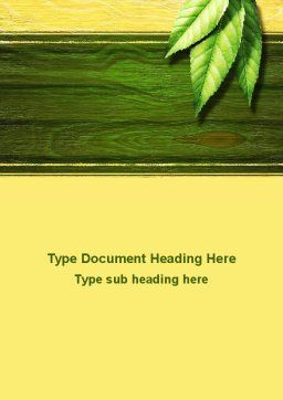 Spring Forest Word Template Cover Page