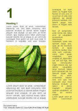 Spring Forest Word Template First Inner Page