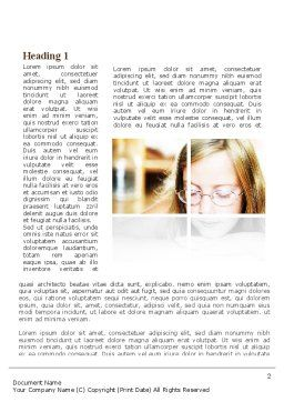 Vision Problems Of Pupils Word Template First Inner Page