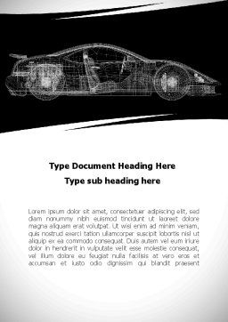 Car Design Process Word Template, Cover Page, 09524, Cars/Transportation — PoweredTemplate.com