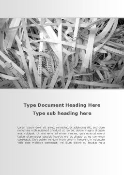 Sliced Paper Word Template, Cover Page, 09526, Consulting — PoweredTemplate.com