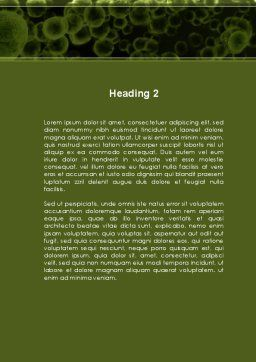 Green Bacteria Word Template, Second Inner Page, 09527, Medical — PoweredTemplate.com