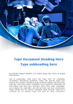 Surgical Operation In A Blue Palette Word Template, Cover Page, 09528, Medical — PoweredTemplate.com
