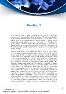 Surgical Operation In A Blue Palette Word Template, Second Inner Page, 09528, Medical — PoweredTemplate.com