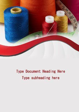 Needle And Threads Word Template, Cover Page, 09530, Careers/Industry — PoweredTemplate.com