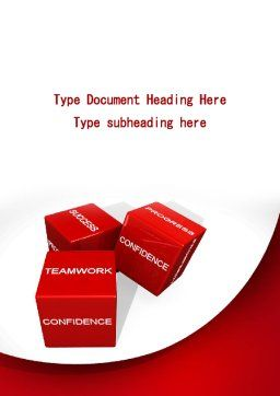 Successful Combination Word Template, Cover Page, 09532, Consulting — PoweredTemplate.com