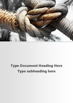 Fisherman's Bend Knot Word Template, Cover Page, 09534, Consulting — PoweredTemplate.com