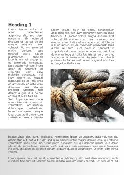 Fisherman's Bend Knot Word Template, First Inner Page, 09534, Consulting — PoweredTemplate.com