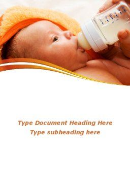 Artificial Feeding Word Template, Cover Page, 09538, People — PoweredTemplate.com