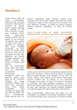 Artificial Feeding Word Template, First Inner Page, 09538, People — PoweredTemplate.com
