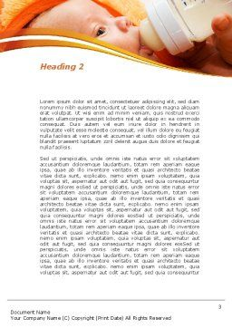 Artificial Feeding Word Template, Second Inner Page, 09538, People — PoweredTemplate.com
