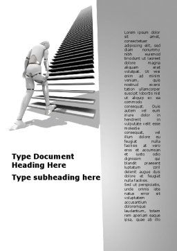 Upstairs Word Template, Cover Page, 09539, Consulting — PoweredTemplate.com
