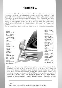 Upstairs Word Template, First Inner Page, 09539, Consulting — PoweredTemplate.com