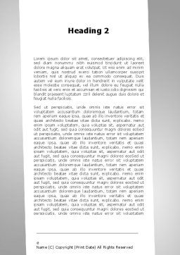 Upstairs Word Template, Second Inner Page, 09539, Consulting — PoweredTemplate.com