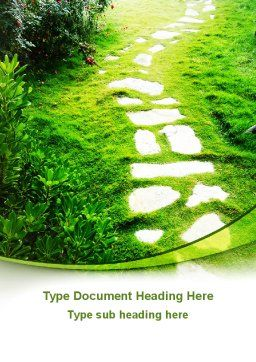 Forest Trail Word Template Cover Page