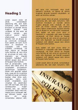 Insurance Policy Word Template, First Inner Page, 09546, Legal — PoweredTemplate.com