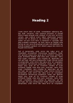 Insurance Policy Word Template, Second Inner Page, 09546, Legal — PoweredTemplate.com